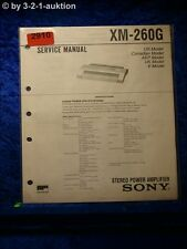 Sony Service Manual XM 260G Power Amplifier (#2910)