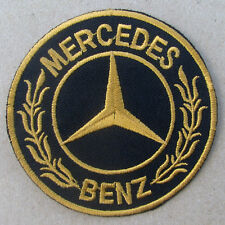 MERCEDES BENZ Advertising Iron on Patch Gold CLA CLS AMG GT S GLA GLK SL SLK GL