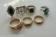 From an Estate 7 Fashion Rings 4 are Avon 3 are Unbranded