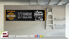 Harley Davidson Euro Festival 10th Anniversary Workshop Garage Banner