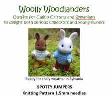 Spotty Jumpers Knitting pattern Sylvanian Families & Calico Critters clothes
