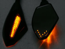 LED Turn Signal Integrated Mirrors For Kawasaki Ninja ZX-6R Yamaha R6 R1 FZ6 FZ1