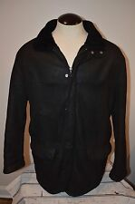 Men's Canali Shearling  Leather Coat/Jacket SZ 44 USA Black