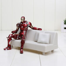 "MARVEL/ FIGURA IRON MAN CON SOFA 15 CM - FIGURE MARK 43 TONY´S  SOFA 6"" BOX"