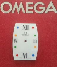 OMEGA 1990s Ladies Rectangular Mother of Pearl Roman Dial with coloured dots NOS