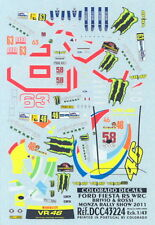 Colorado Decals 1/43 FORD FIESTA RS WRC BRIVIO & ROSSI Monza Rally Show 2011