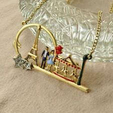 N102 Betsey Johnson Merry Go Round Romatic Garden Roundabout Horse Necklace US