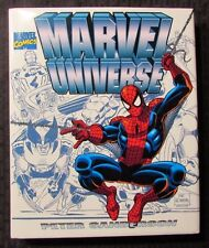 1996 MARVEL UNIVERSE by Peter Sanderson HC/DJ NM/VF SIGNED by Stan Lee