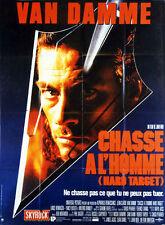 Affiche 120x160cm CHASSE À L'HOMME /HARD TARGET John Woo - Jean-Claude Van Damme