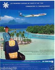 Publicité Advertising 2002 Compagnie aerienne Air Tahiti Nui