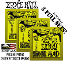 **3 PACKS ERNIE BALL 2621 7-STRING ELECTRIC GUITAR STRINGS (3 FULL SETS)**