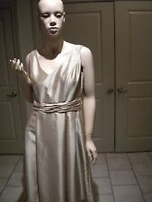 JESSICA HOWARD CHAMPAGNE COLOR RUCHED SLEEVELESS PLEATED COCKTAIL DRESS 10
