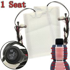 Universal Car Seat Carbon Fiber Heated Seat Heater Pad H/ L Round Switch Kit 12V