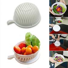 Easy To Make Salad in 60 Seconds Salad Maker Cutter Bowl Fruit Vegetable Washer