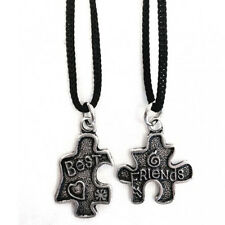 Pendentif puzzle best friends double métal avec corde made in italy