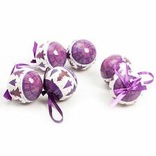 6 Pc Luxury Elegant Christmas Tree Hanging Baubles Decoration Set - Printed 80mm