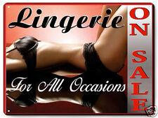 LINGERIE SALE Metal sign lacy bra underware / ladies garments store display 196