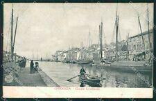 Venezia Chioggia Canale Lombardo Barche Alterocca 3967 cartolina QT4003