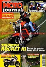 MOTO JOURNAL 1621 SUZUKI BANDIT 600 1200 TRIUMPH Rocket 3 YAMAHA XT 1000 YZ 125