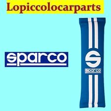 SPARCO 0109077AZ Coppia Cuscinetti Azzurri In Poliestere Per Cinture Linea 77