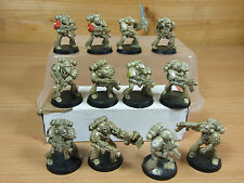 12 PLASTIC ROGUE TRADER ERA SPACE MARINES PAINTED (1084)