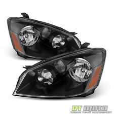 Black For 2005-2006 Altima Factory Halogen Model Headlights Headlamps Left+Right