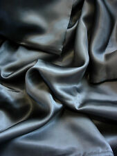 4 pc 100% Mulberry silk charmeuse sheet set California King Dark Gray