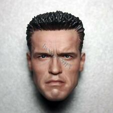 "Custom 1/6 Scale Arnold Schwarzenegger T800 Head Sculpt For 12"" Hot Toys Body"