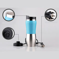 Portable Car 12V Stainless Steel Kettle Cup Warm Hot Water 100° Heater Mug Blue