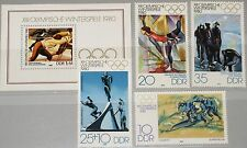 RDT East Germany 1980 2478-81 blocco 57 2063-66 inverno Olympics Lake Placid MNH