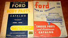 49 50 51 52 1953 1954 Ford Parts Catalogs Mainline Crestline Skyliner Customline
