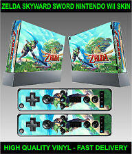 Nintendo Wii Sticker Kit Skin Zelda Skyward Sword Style & 2 Remote Skins