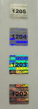 "100 Square Security Hologram Labels Sticker Seals Tamper Evident .5"" SVAG #'d"
