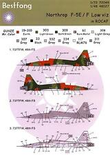 Bestfong Decals 1/48 NORTHROP F-5E/F TIGER II Low Viz ROCAF