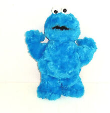 Cookie Monster Sesame Street Blue Fluffy Bean Bag Plush Toy 2002