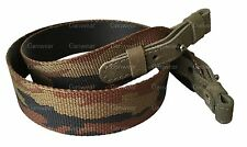 Camo Nylon with Leather Rifle Sling Shotgun Air Gun Strap Hunting Shooting