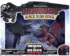 RARE - DREAMWORKS HOW TO TRAIN YOUR DRAGON TOOTHLESS VS RED DEATH BATTLE PACK