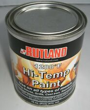 RUTLAND 1200-Degree F Brush-On Flat Stove Paint, 16 Fluid Ounce, Black #81 NEW!