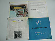 Prospekt Mercedes Benz - Typ 170 V, 230, 320, 540 K, 9.1938, 8 Seiten, englisch