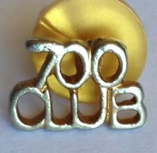 700 Club Small Golden Pin Brooch Rare Vintage (H3)