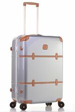 "$775 Bric's Bellagio Metallo Silver Trunk Suitcase Spinner Luggage 27"" BBG08503"