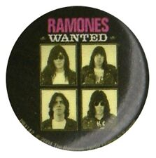 Ramones Wanted Badge 1 inch Button Pin Badge Sex Pistols Clash