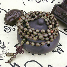 Tibetan Buddhism 108 Gold-bell Bodhi seed Prayer Bead Mala Necklace