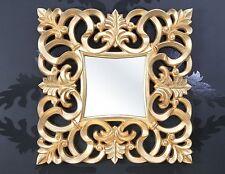 Wandspiegel 100x100 Quadrat Barock in GOLD Ornamente Spiegel wow Neu