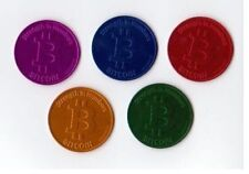 CASASCIUS Anodized FIVE (+Bonus) Color Coin Set ~ Rare Promo BIT COIN BTC Coins