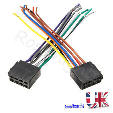 Universal Male ISO Radio Plug Adapter Wiring Harness Loom Hard Wire Stereo Cable