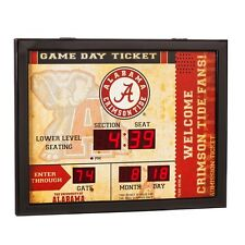 Alabama Crimson Tide Bluetooth Scoreboard Wall Clock Free Shipping Roll Tide