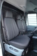 Ford Transit Van 2000-2013 Tailored & Waterproof Black Front Seat Covers UK Made