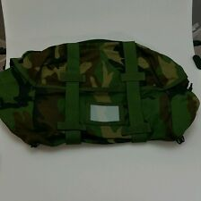 Sleep System Carrier Woodland Camo Authentic Military US Army Surplus Molle II