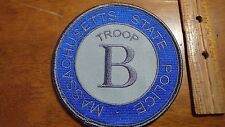 MASSACHUSETTS STATE POLICE TROOP B PATCH BX H 77